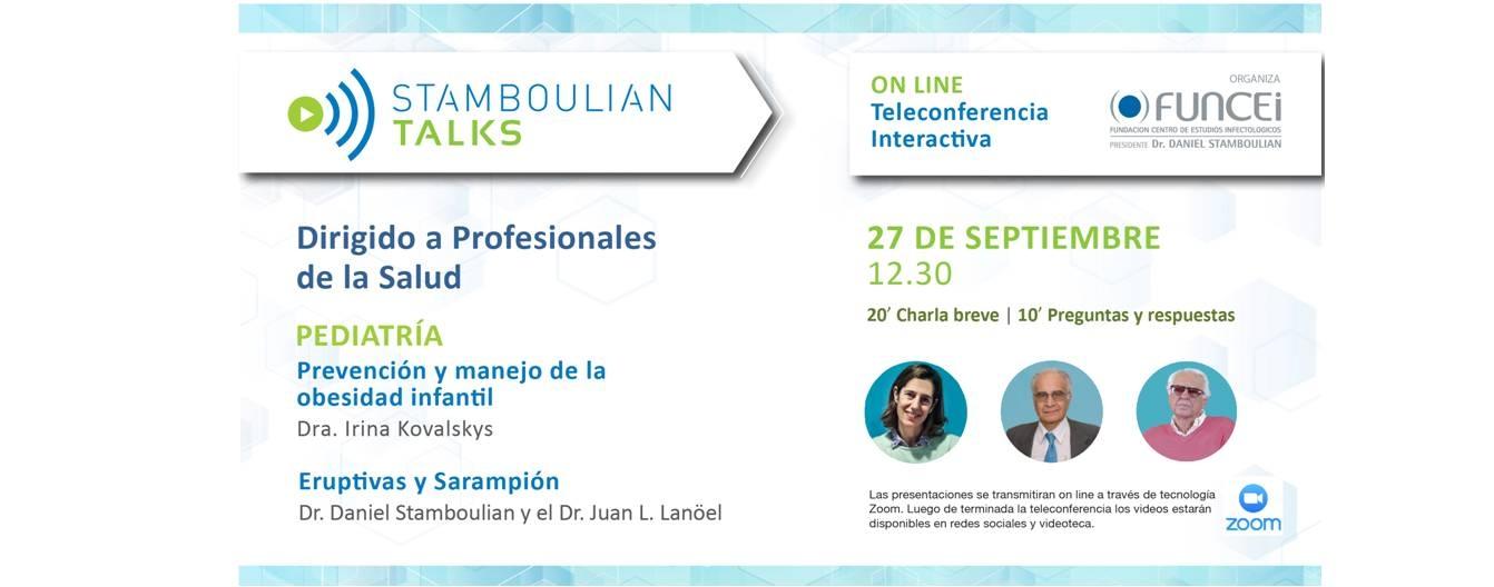 Abierta la inscripción a Primera Jornada de Pediatría de Stamboulian Talks